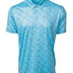 Fenix XCell sky blue golf polo