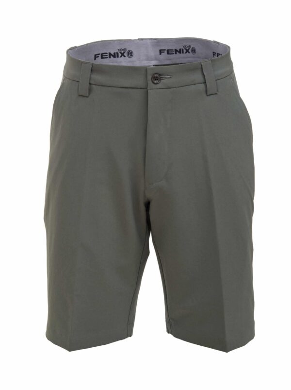Fenix XCell grey golf shorts front view