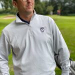 Golf Mates Carmel Solid Quarter Zip Sweater - Grey Image