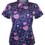 Ladies valentines polo shirt