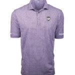 Golf Mates Duck Key Checkered Print Polo Shirt - Grape Image