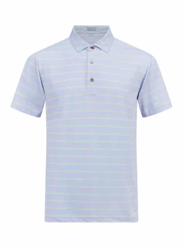Monterey Lavender White Paradise Green Front golf polo shirt